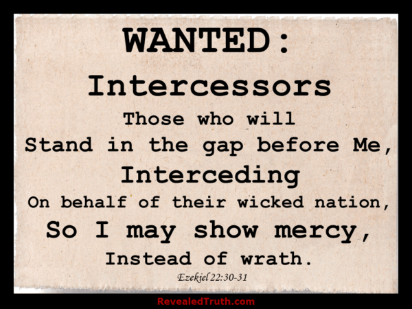 Will you Stand in the Gap and intercede? - Ezekiel 22:30-31