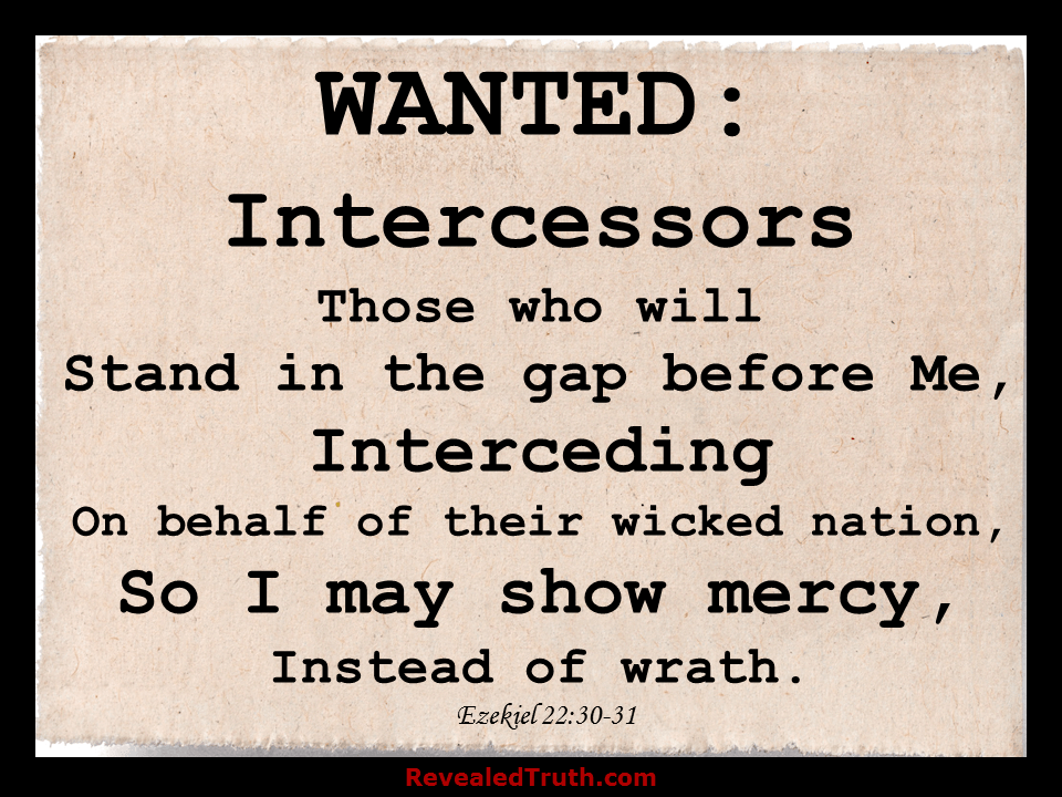 Will you Stand in the Gap before God and Intercede? - Ezekiel 22:30-31