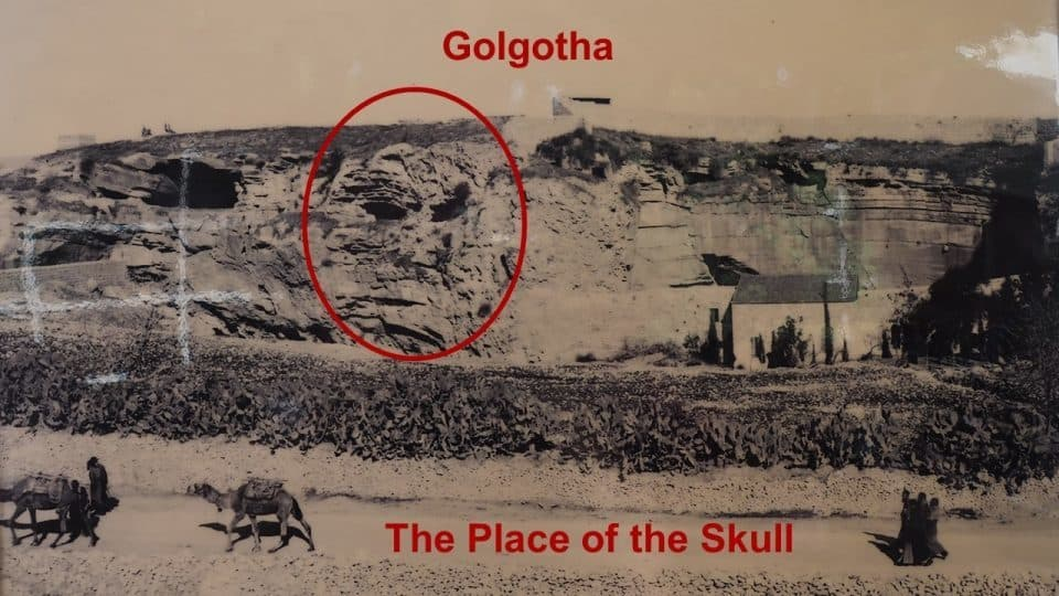 Old Picture of Skull Hill in Jerusalem (AKA Golgotha and Calvary)