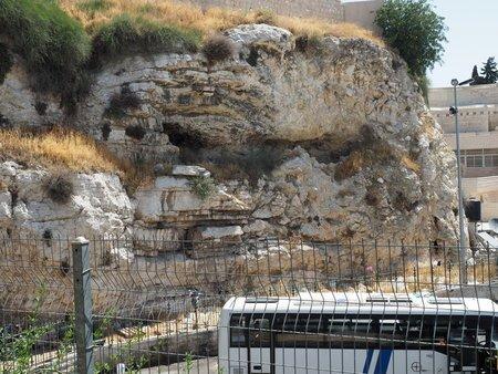 """The eroded """"Skull"""" at Calvary / Golgotha"""