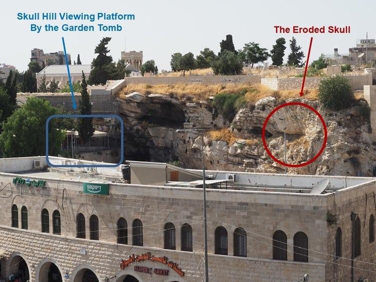 Golgotha Overlook at Skull Hill in Jerusalem