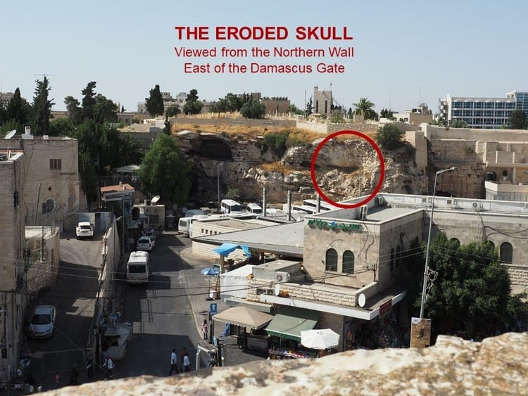 Picture of Golgotha Today - The Eroded Skull