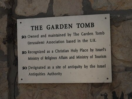 The Garden Tomb in Jerusalem