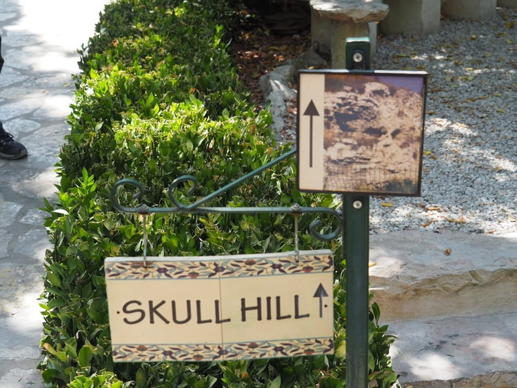 Skull Hill Signs near the Garden Tomb