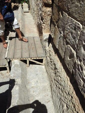 Garden Tomb Door Stone Track