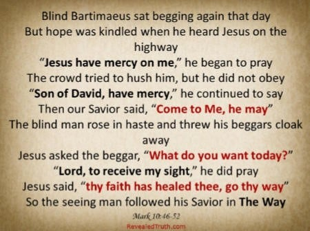 Healing Faith of Blind Bartimaeus