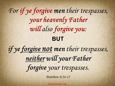 The Importance of Forgiveness - Matthew 6:14-15