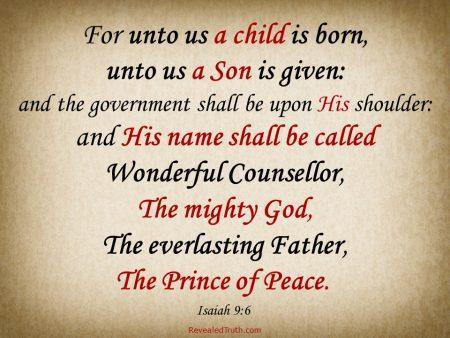 Unto Us a Child is Born - Isaiah 9:6