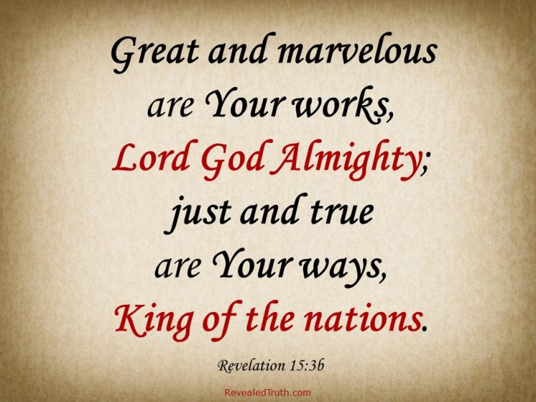 Revelation 15:3 - A Song of Praise to Lord God Almighty