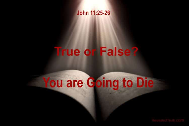 John 11:25-26 Are You Going to Die?