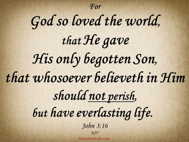 John 3:16 God Gave His Son so anyone who Believes can have Eternal Life