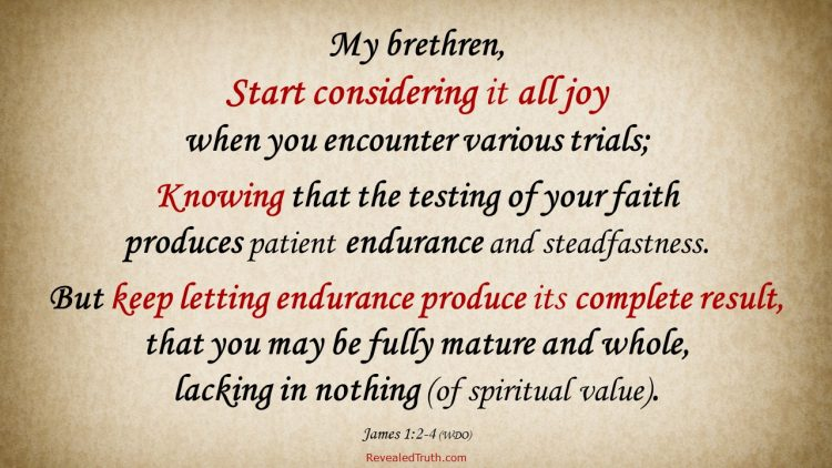 James 1:2-4 Consider Trials and Testing All Joy