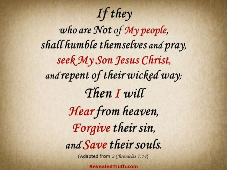 2 Chronicles 7:14 adapted for salvation