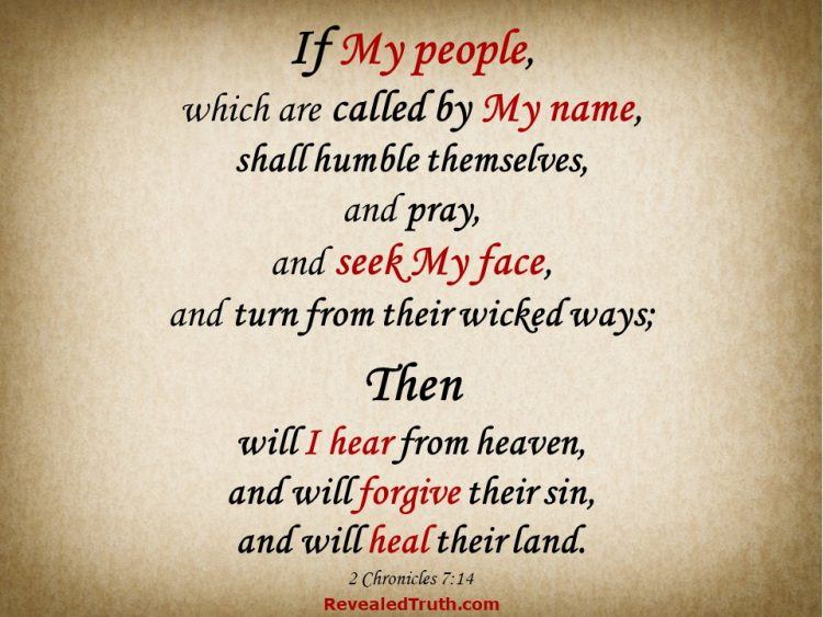 2 Chronicles 7:14 KJV - If My people shall . . . Then I will . . .