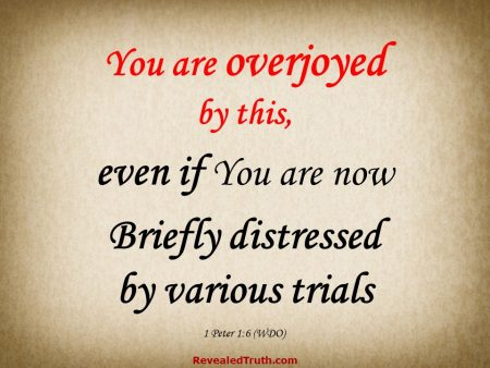 1 Peter 1:6 You are Overjoyed even if Distressed by Various Trials