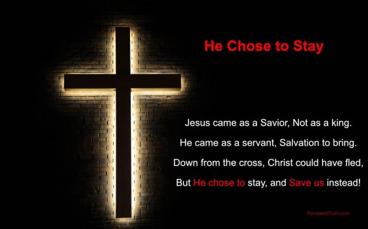 Jesus Chose to Stay on the Cross to Save Us