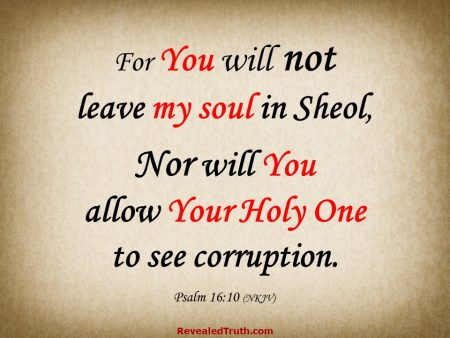 Psalm 16:10 You will Not leave my Soul in Sheol